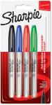 Sharpie Fine Marker Pens - Standard Colours (Pack of 4)