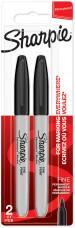 Sharpie Fine Marker Pen - Black (Blister of 2)