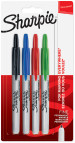 Sharpie Retractable Marker Pens - Assorted Colours (Blister of 4)