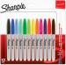 Sharpie Fine Marker Pens - Assorted Colours (Blister of 12)