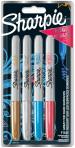 Sharpie Fine Marker Pens - Metallic Colours (Blister of 4)