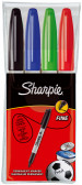 Sharpie Fine Marker Pen - Assorted Colours (Pack of 4)