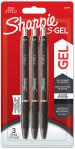 Sharpie S Gel Pens - Black (Blister of 3)