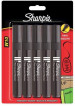 Sharpie W10 Marker Pens - Chisel Tip - Black (Blister of 5)