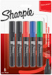 Sharpie W10 Marker Pens - Chisel Tip - Assorted Colours (Blister of 5)