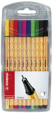 Stabilo point 88 Fineliner Pen - Assorted Colours (Pack of 10)