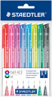 Staedtler Retractable Ballpoint Pen - Assorted Colours (Pack of 8)