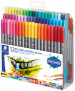 Staedtler Double Ended Fibre Tip Pens - Assorted Colours (Wallet of 120) - Picture 1