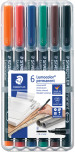 Staedtler Lumocolor Permanent Pen - Broad - Assorted Colours (Pack of 6)