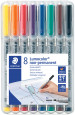 Staedtler Lumocolor Nonpermanent Pen - Medium - Assorted Colours (Pack of 8)