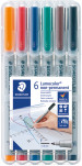 Staedtler Lumocolor Nonpermanent Pen - Fine - Assorted Colours (Pack of 6)