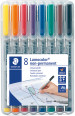 Staedtler Lumocolor Nonpermanent Pen - Fine - Assorted Colours (Pack of 8)