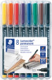 Staedtler Lumocolor Permanent Pen - Fine - Assorted Colours (Pack of 8)