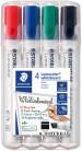 Staedtler Lumocolor Whiteboard Marker - Chisel Tip - Assorted Colours (Pack of 4)