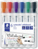Staedtler Lumocolor Whiteboard Markers - Chisel Tip - Assorted Colours (Pack of 6)