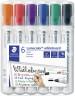 Staedtler Lumocolor Whiteboard Marker - Bullet Tip - Assorted Colours (Pack of 6)