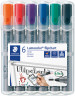 Staedtler Lumocolor Flipchart Marker - Bullet Tip - Assorted Colours (Pack of 6)