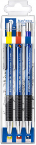Staedtler Mars Micro Mechanical Pencils - 0.3/0.5/0.7mm B - Wallet of 3