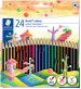 Staedtler Noris Colour Pencils - Assorted Colours (Wide Pack of 24)