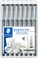 Staedtler Pigment Liners - Assorted Tip Sizes (Pack of 8)