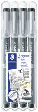 Staedtler Pigment Liners - Assorted Tip Sizes (Pack of 4)