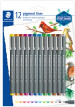 Staedtler Pigment Liner - 0.5mm - Assorted Colours (Blister of 12)