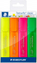 Staedtler Textsurfer Classic Highlighter - Assorted Colours (Wallet of 4)