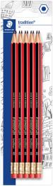 Staedtler Tradition Pencil with Eraser Tip (Blister of 10)