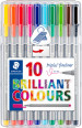 Staedtler Triplus Fineliner Pen - Assorted Colours (Pack of 10)