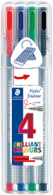 Staedtler Triplus Fineliner Pen - Office Colours (Pack of 4)