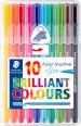 Staedtler Triplus Broadliner Pen - Assorted Colours (Pack of 10)