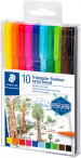 Staedtler Triplus Fineliner Pens - Extra Broad - Assorted Colours (Pack of 10) - Picture 1