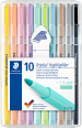 Staedtler Triplus Textsurfer Highlighter - Assorted Pastel Colours (Wallet of 10)