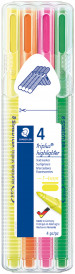 Staedtler Triplus Textsurfer Highlighter - Assorted Colours (Pack of 4)