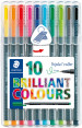 Staedtler Triplus Rollerball - Assorted Colours (Pack of 10)