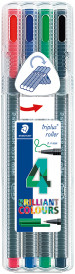 Staedtler Triplus Rollerball - Assorted Colours (Pack of 4)