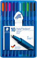 Staedtler Triplus Ballpoint Pen - Medium - Assorted Colours (Wallet of 10)