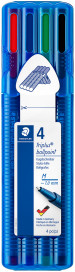 Staedtler Triplus Ballpoint Pen - Medium - Assorted Colours (Wallet of 4)