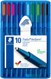 Staedtler Triplus Ballpoint Pen - Extra Broad - Assorted Colours (Wallet of 10)