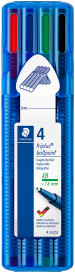 Staedtler Triplus Ballpoint Pen - Extra Broad - Assorted Colours (Wallet of 4)