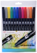 Tombow ABT Dual Brush Pens - Primary Colours (Pack of 12)