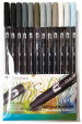 Tombow ABT Dual Brush Pens - Grey Colours (Pack of 12)