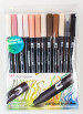 Tombow ABT Dual Brush Pens - Skin Tone Colours (Pack of 12)