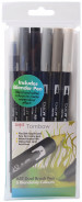 Tombow ABT Dual Brush Pens - Grey Colours (Pack of 6)