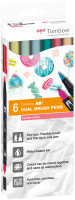 Tombow ABT Dual Brush Pens - Ocean Colours (Pack of 6)