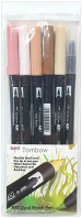 Tombow ABT Dual Brush Pens - Skin Tone Colours (Pack of 6)
