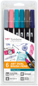Tombow ABT Dual Brush Pens - Vintage Colours (Pack of 6)