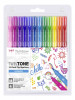 Tombow TwinTone Dual Tip Markers - Rainbow Colours (Pack of 12)