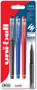 Uni-Ball UF-222-07 Eraseable Capped Gel Pen - Assorted Colours (Pack of 3)