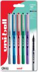 Uni-Ball UB-157D Eye Designer Rollerball Pens - Assorted Colours (Blister of 5)